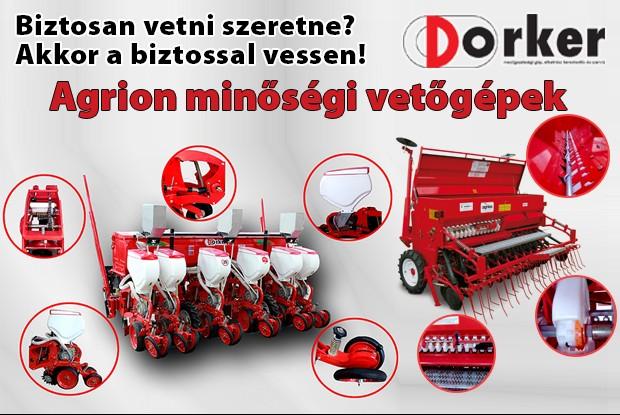 AGRION: a minőségi vetőgép!!!! AGRION gépek a DORKER KFT kínálatában!