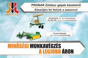 Pronar zöldsor gépek készletről