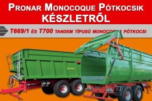 Pronar monocoque pótkocsik készletről