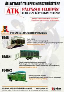 ÁTK - Pronar állatszállító pótkocsik