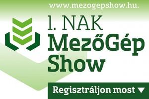 1. NAK MezőGépShow - Regisztráljon most!