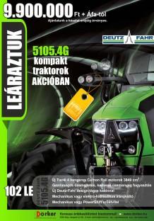 Deutz-Fahr 5105.4G kompakt traktorok AKCIÓBAN