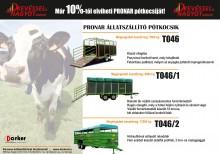 Állatszállító pótkocsik a Pronar-tól
