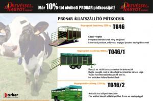 Pronar állatszállító pótkocsik