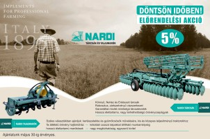 NARDI tárcsák és talajmarók - Előrendelési akció
