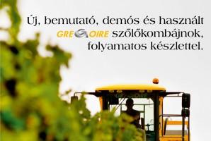 Gregoire szőlőkombájnok készletről