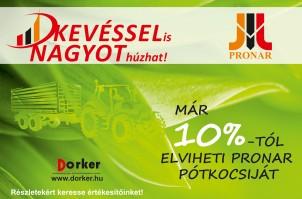 KEVÉSSEL is NAGYOT húzhat! - Már 10%-tól elviheti Pronar pótkocsiját